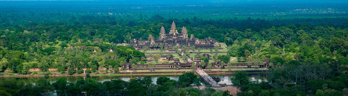 Aerial view from Angkor Wat.