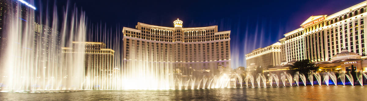 Bellagio fonteinen in Las Vegas.