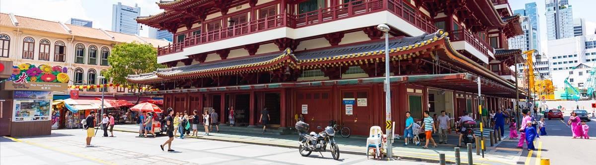 De Buddha Tooth Relic tempel.
