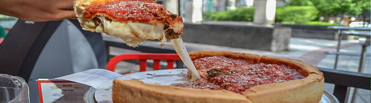 deep dish pizza Chicago