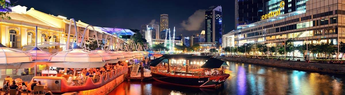 Clarke Quay in Singapore.