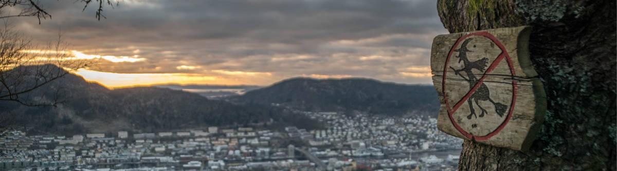 Folklore in Bergen, Noorwegen.