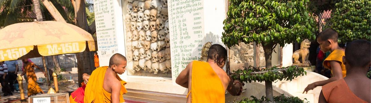 Killing fields landmark in Phnom Penh.
