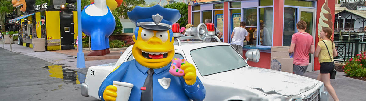 The Simpsons in Universal Studios.