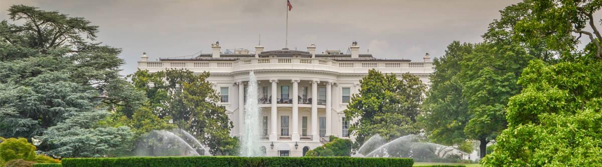 Het witte huis in Washington.