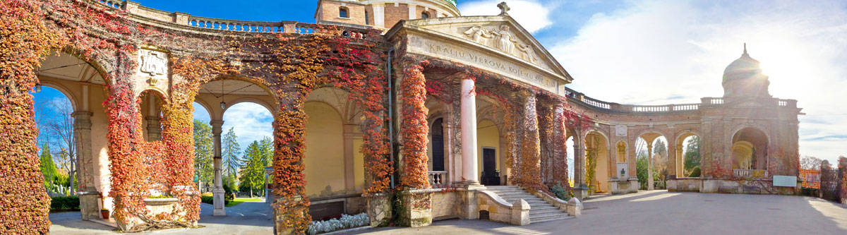 The Mirogoj cemetery in Zagreb.