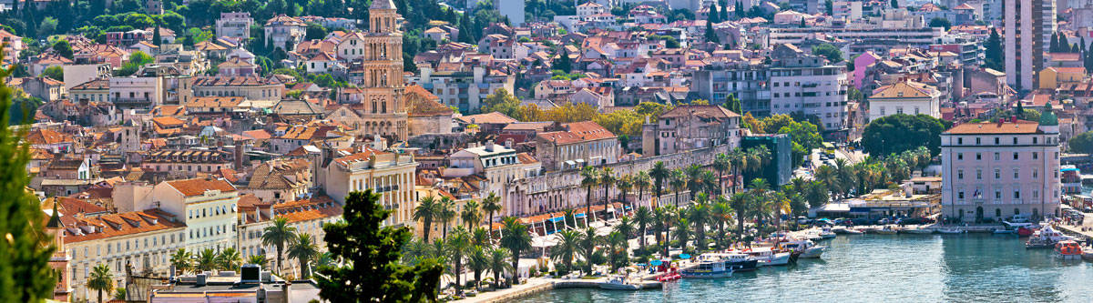 View over Split, one of the coastal towns in Croatia.