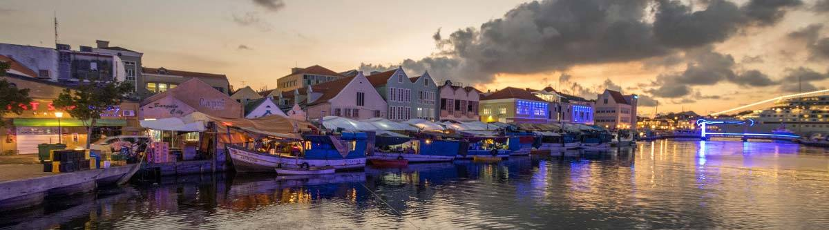 The floating market in Curaçao.