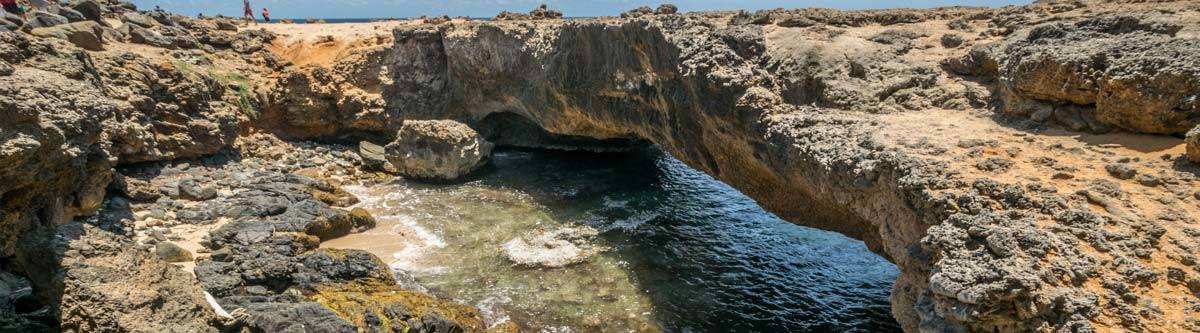The natural bridge of Aruba. Only the smaller one remains, since the big one collapsed a couple of years ago.