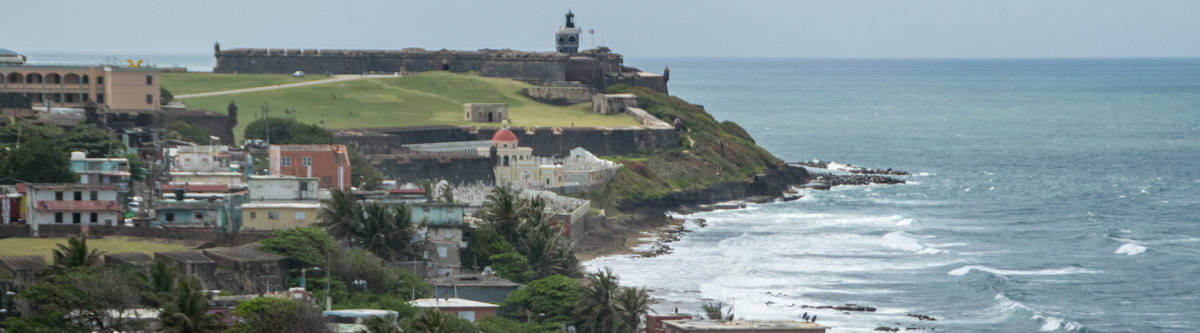 The Castillo de San Felipe. One of the two huge forts in San Juan, Puerto Rico.