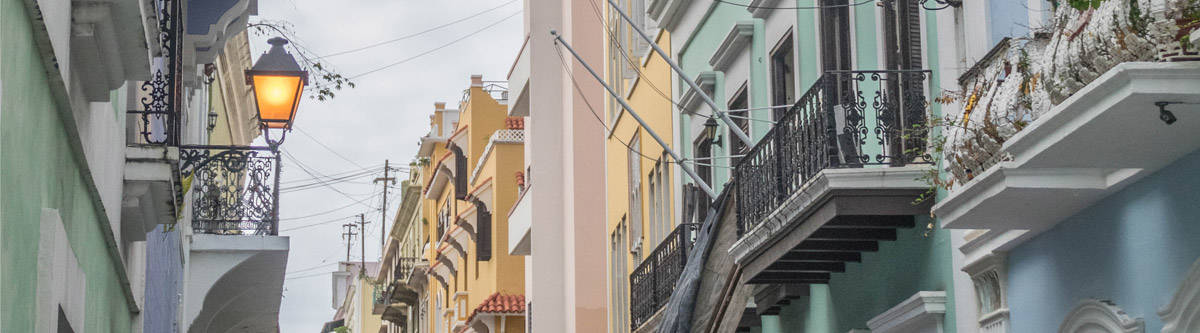 The old town of San Juan, the capital of Puerto Rico.