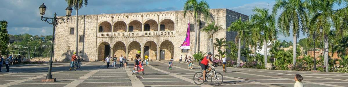 The old city in Santo Domingo. The capital of the DR.