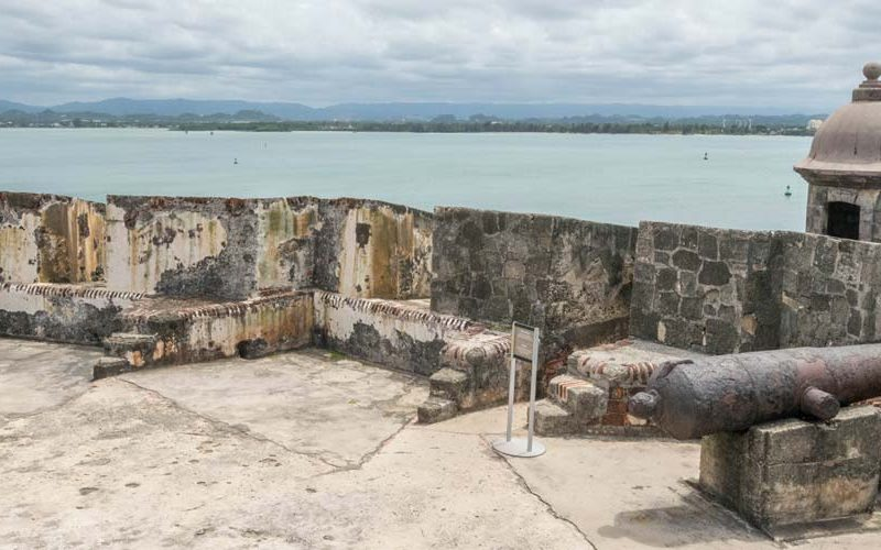 Puerto Rico castel of san felipe del morro inside.