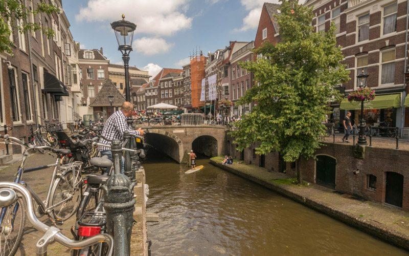 The canals in Utrecht