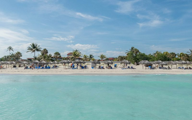 The beach of Varadero is not overcrowded, as many people say.