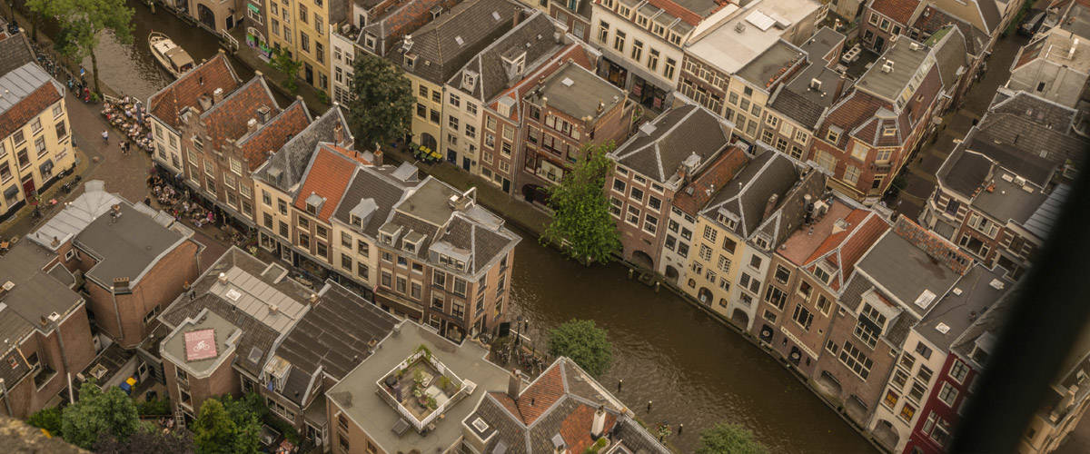 The view from the 'Domtoren' (Cathedral) of Utrecht.