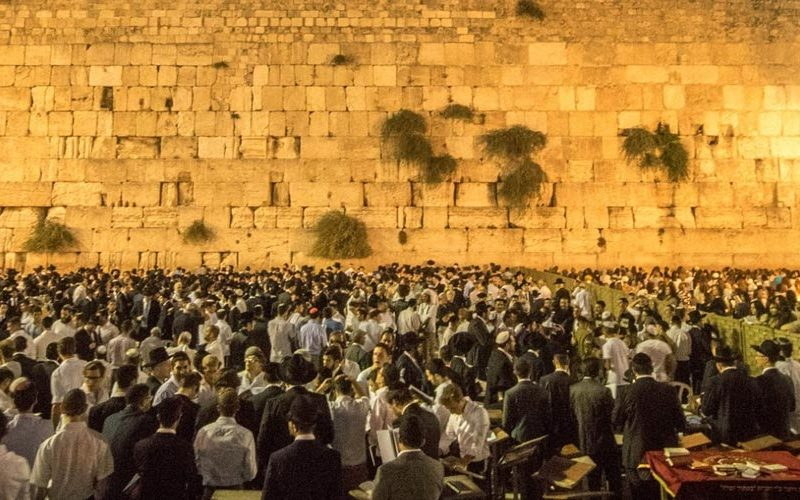 Ancient Jerusalem city, the wailing wall