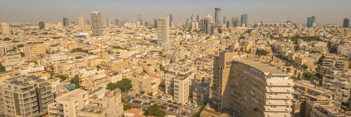 The skyline of Tel Aviv. The open-minded and modern metropole of Israel.