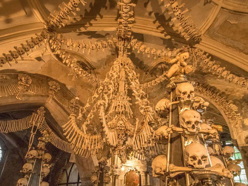 The Sedlec ossuary or the bone chapel of Prague, Czech Republic (Czechia)