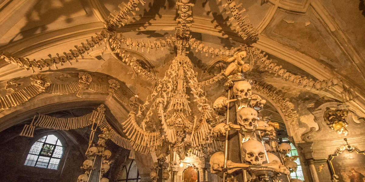 Ossuarium Of Sedlec In Kutna Hora The Bone Church Of Prague