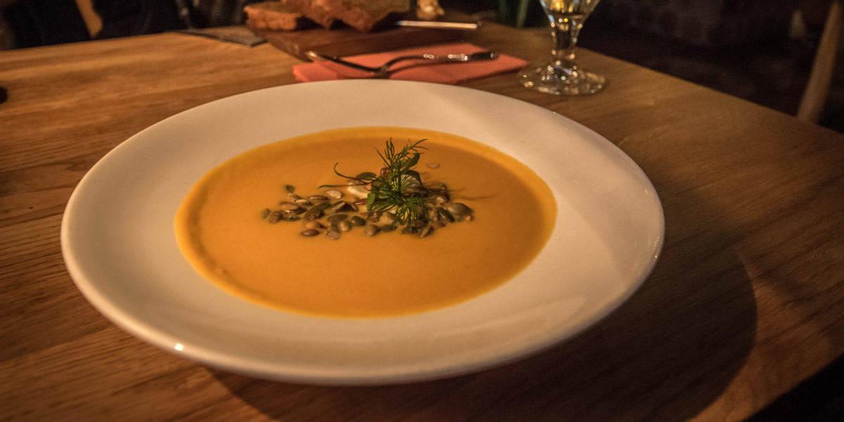 A very fine plate of pumpkin soup in Rataskaevu 16!