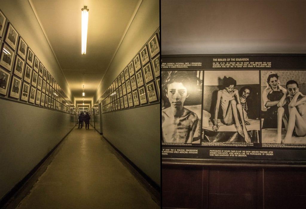 auschwitz photos hallway interior museum