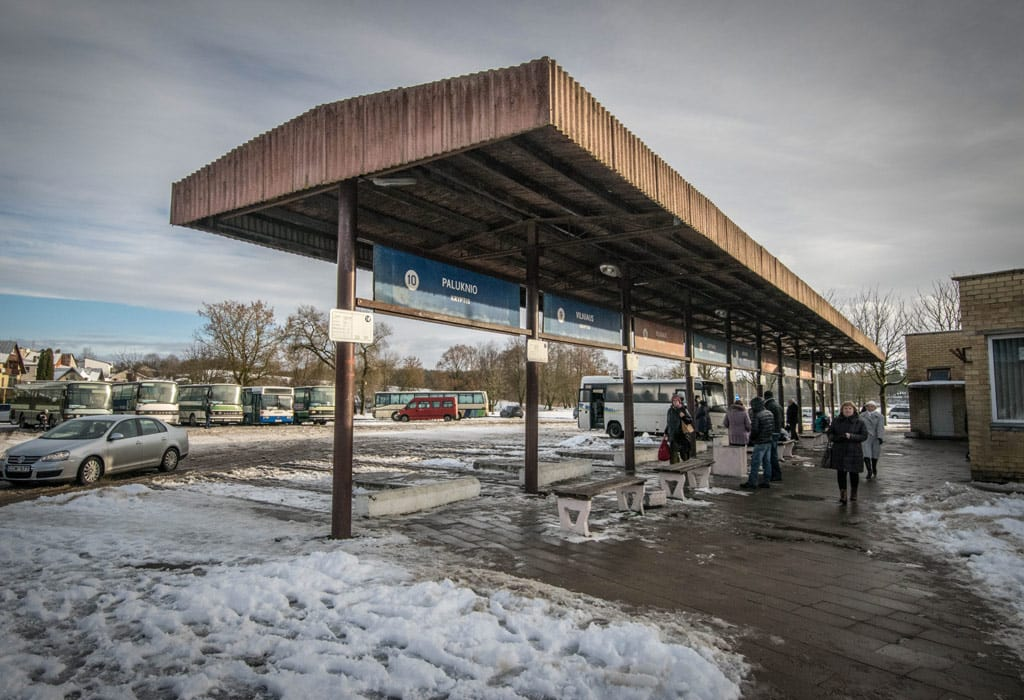 The bus station from Trakai. From here you'll need to walk another 2 km's towards the castle.