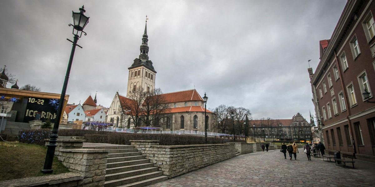 Exploring the old city center of Tallinn.