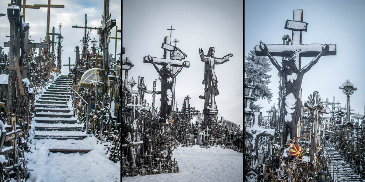 The hill of crosses or 'kryziu kalnas'. More than one hundred thousand crosses together! Absolutely stunning!
