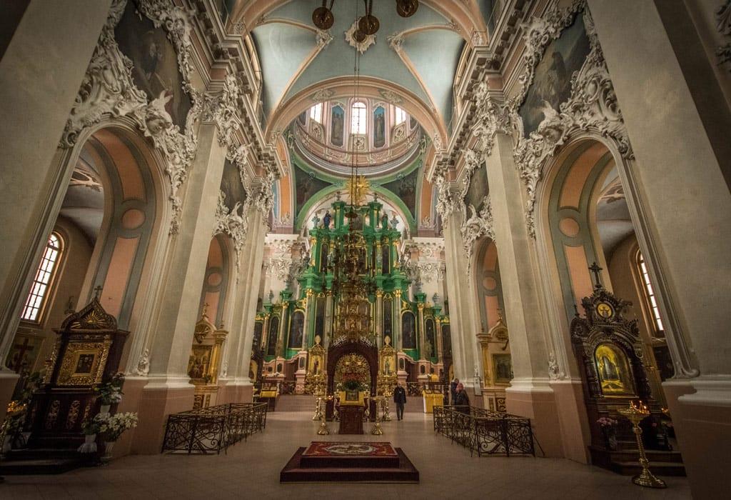 The interior of the St.Casimir Church in Vilnius. Quite unique, I think!