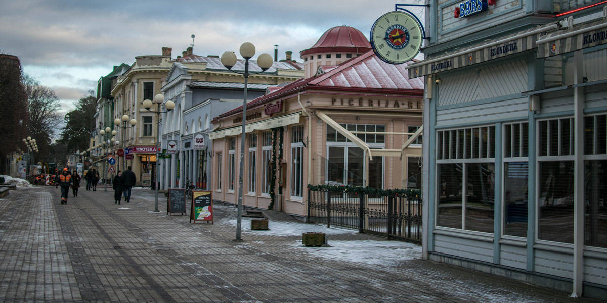 The boulevard of Jurmala. Desolate in winter, but bustling with life during summer!