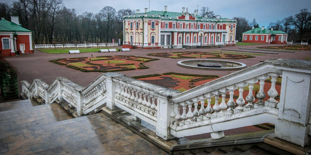 The Kadriorg palace, just outside the bustling city center. You can walk there or take the tram.