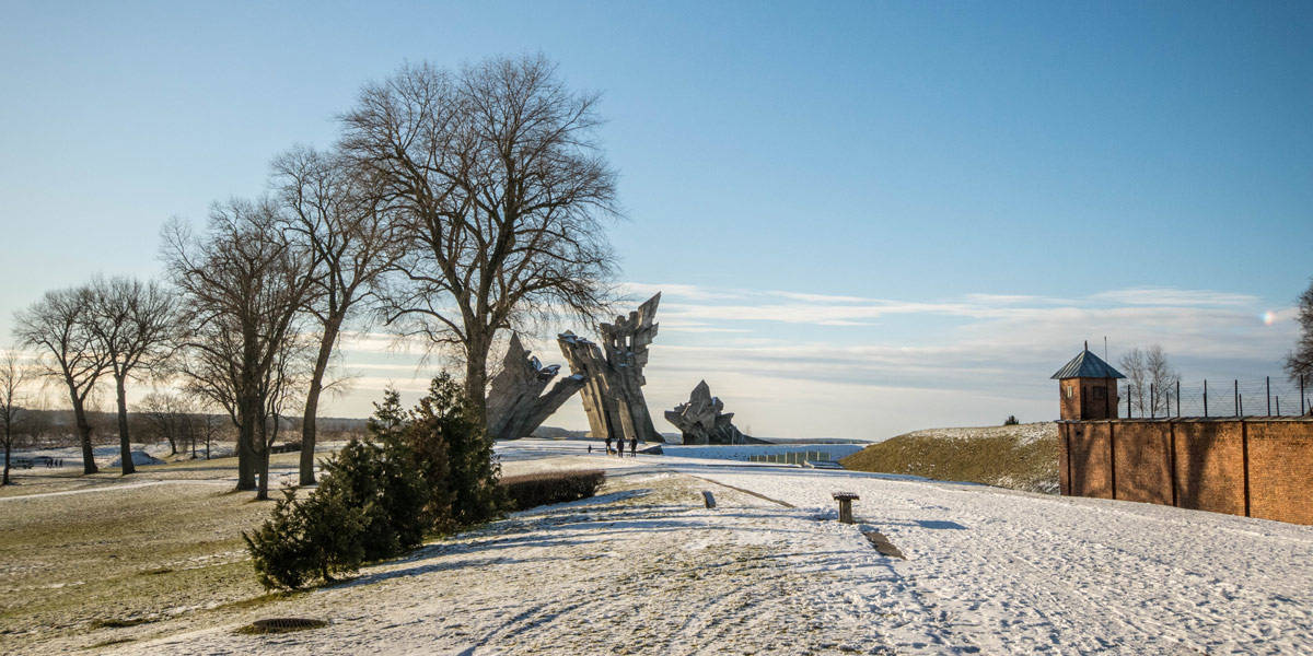 The ninth fort, just outside of Kaunas. A huge park with a beautiful memorial monument and a gruesome bunker.