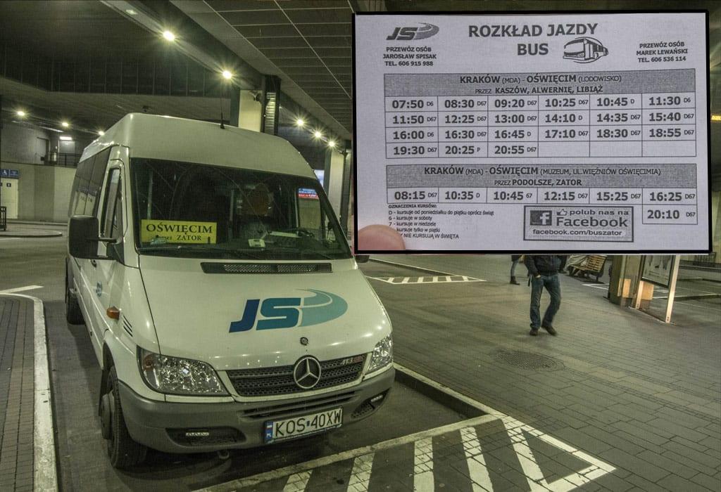krakow to auschwitz bus