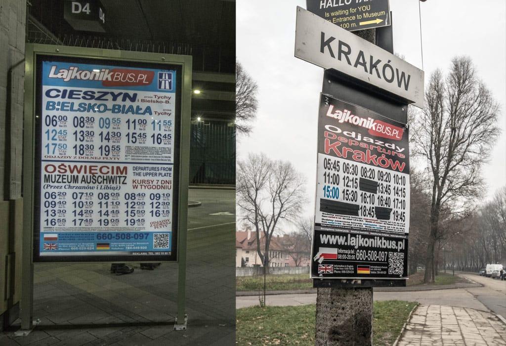 lajkonik krakow to auschwitz bus public transport