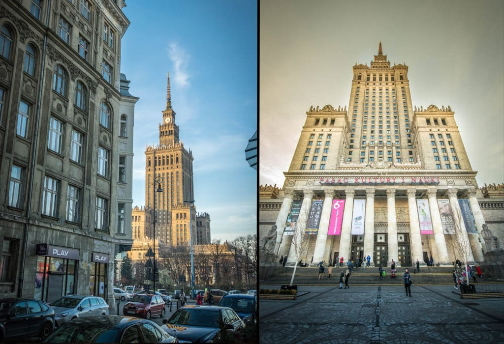 The museum of science and culture is one of the most prominent buildings in Warsaw. It was once given to Poland by Stalin.
