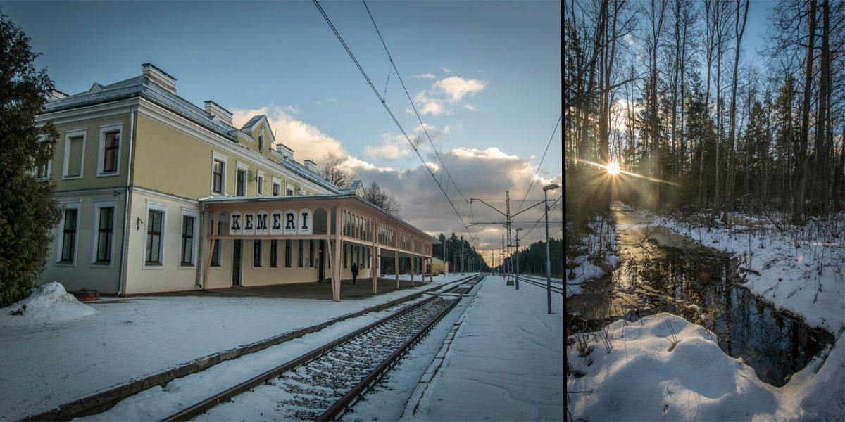 The Kemeri train station.