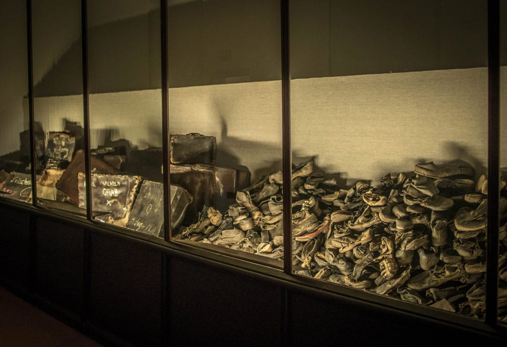 shoes suitcases glasses auschwitz concentration camp