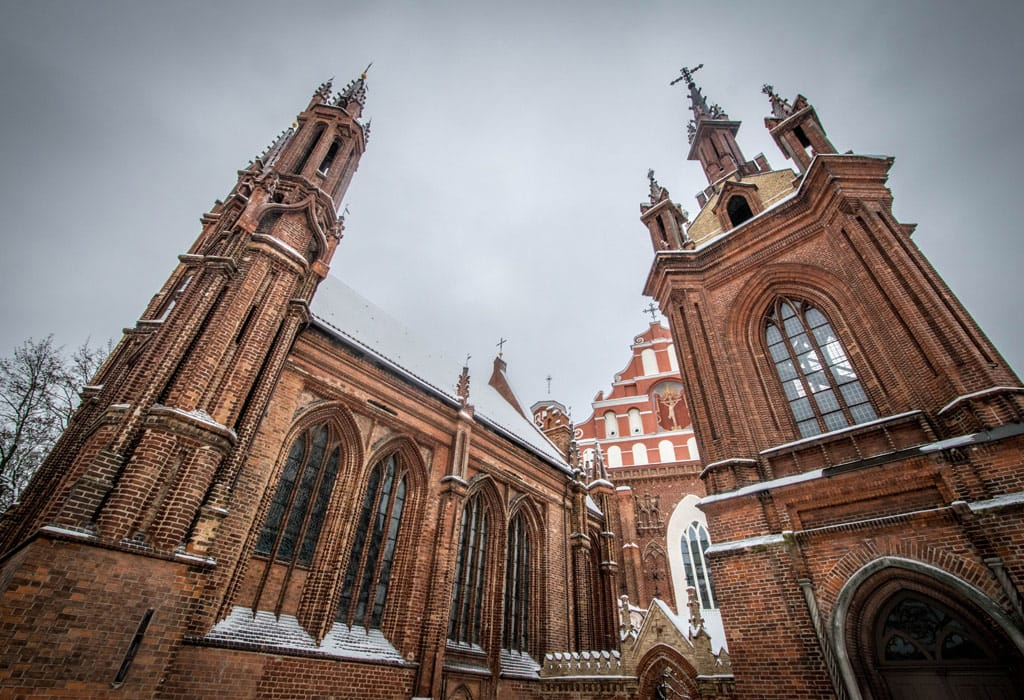 The St. Anne's church is, in my opinion, the most beautiful church of Vilnius.