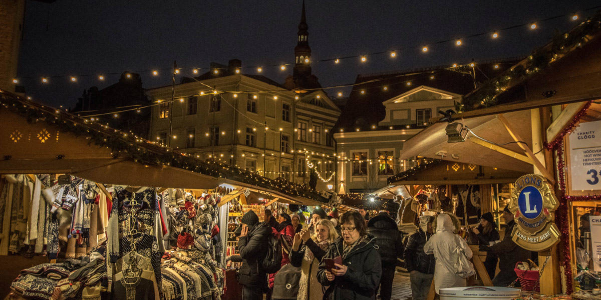 The christmas market in Tallinn. Lovely to see and a nice atmosphere. Especially with these wintery temperatures!