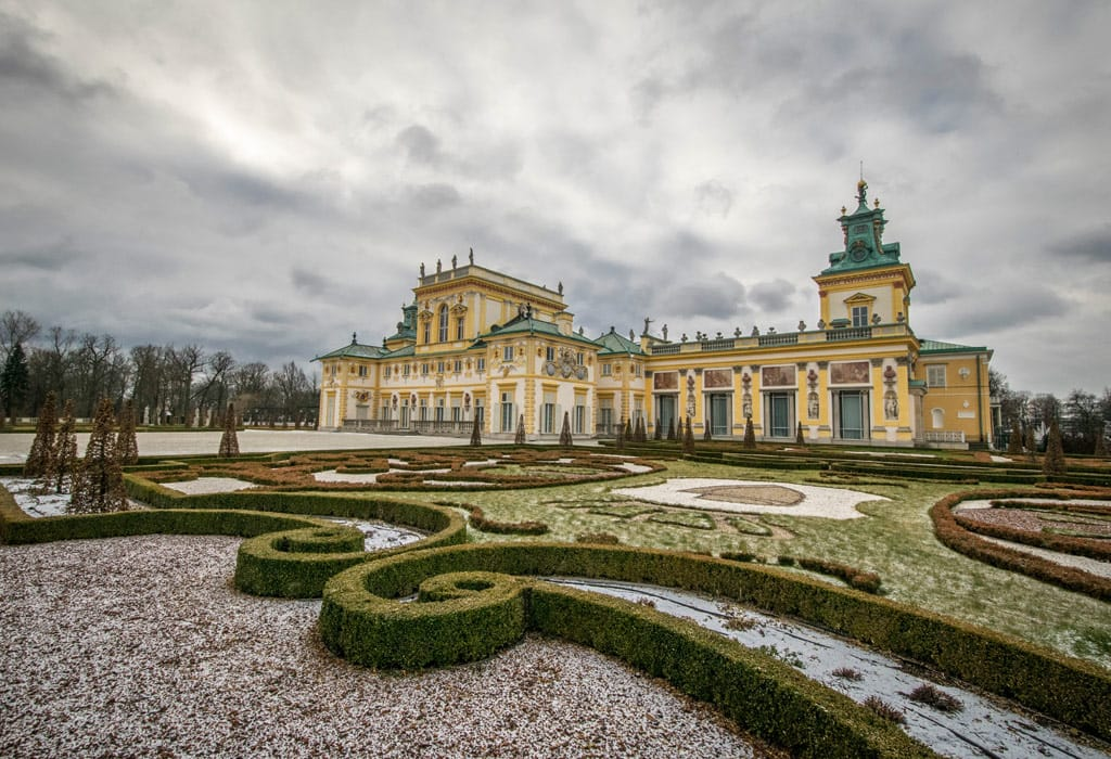The gardens of the Wilanow Palace. Perfectly manicured and well worth a visit!