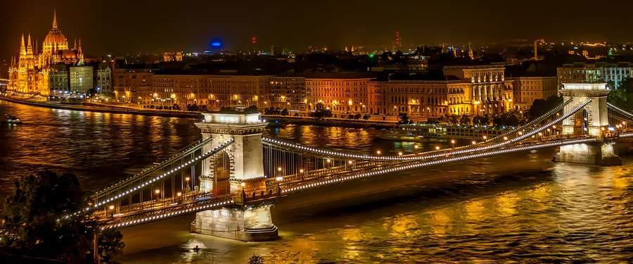 The view you get from the Gellért hill is probably the best you'll get over Budapest.