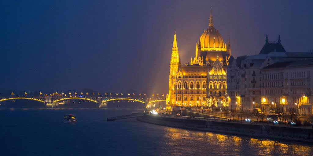 The Hungarian Parliament is beautifully lit at night! It even seems that it is made out of gold!