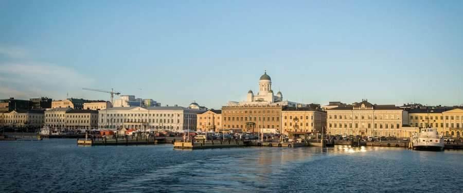 Helsinki as seen from the ferry boat.