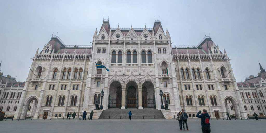 The beautiful parliament of Budapest. Impressive at the outside, but even more so from the inside!