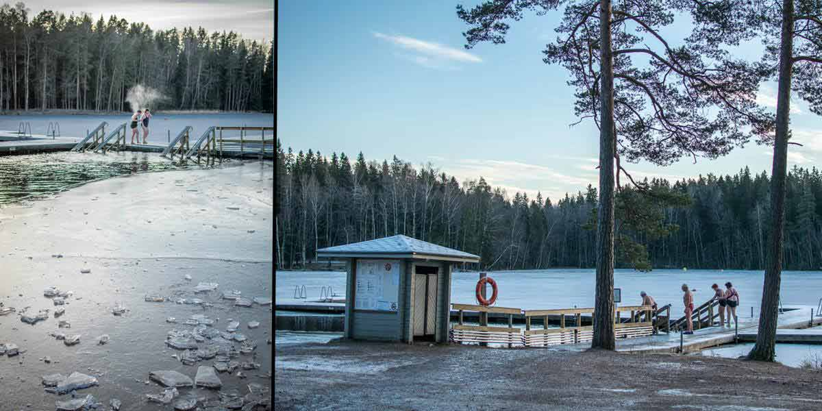 After your amazing sauna experience, you should make it even better by plunging in the ice cold water! What a feeling!