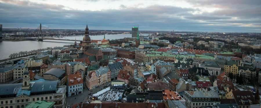 From the viewing platform in the St. Peter's church of Riga you get the best possible view over the capital of Latvia!