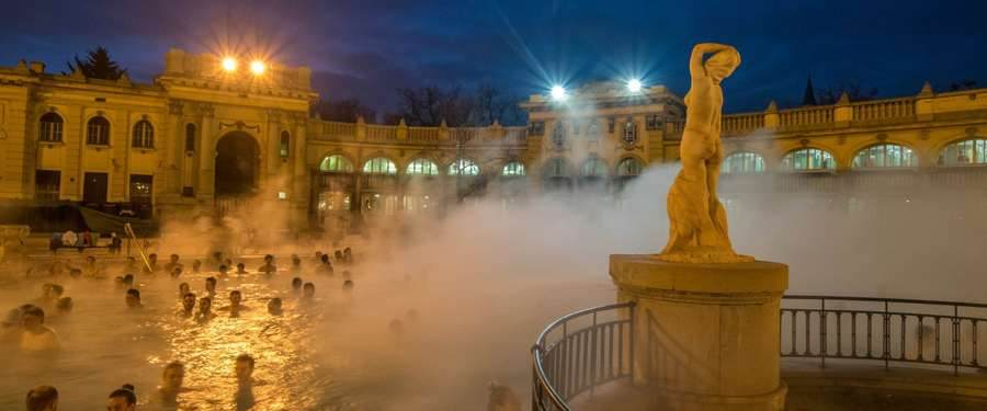 De Szechenyi baths of Budapest leave you amazed by just looking at. So relaxing in one of them is even better!