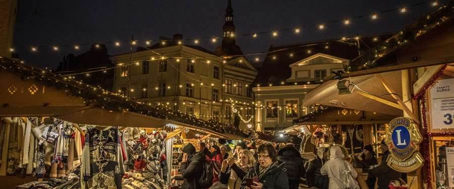 One of the beautiful and cosy christmas markets on the squares of Tallinn.
