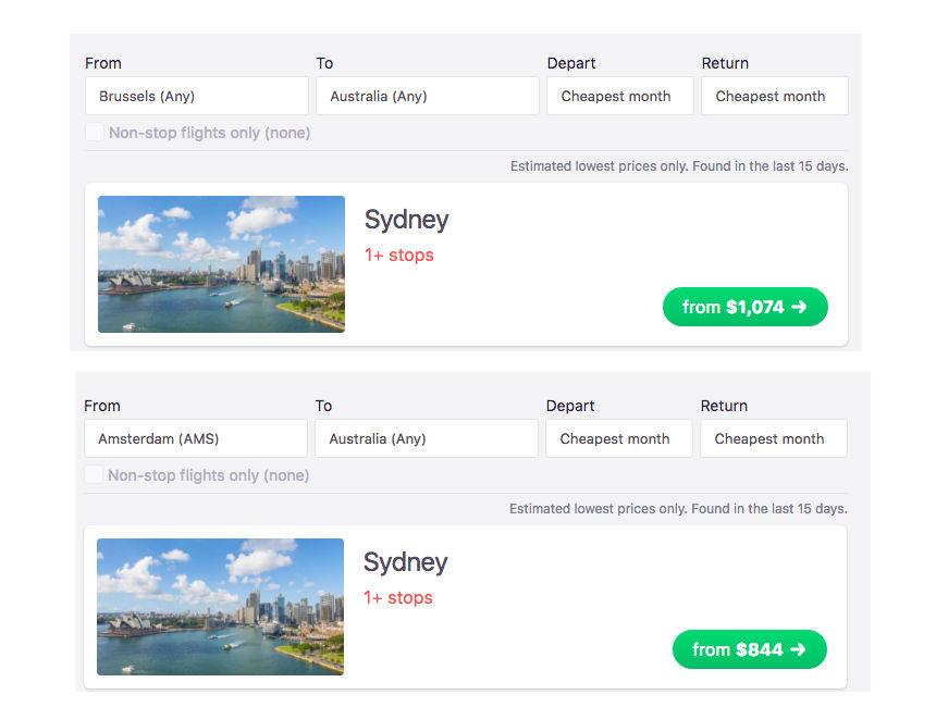 compare airports cheap flights